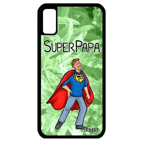 Чехол для Айфона X французский дизайн Суперпапа Отец Семья