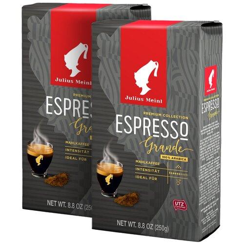 Фото - Кофе молотый Julius Meinl Грандэ Эспрессо , 250 г*2 шт кофе молотый julius meinl юбилейный 250 г