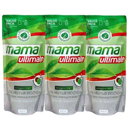 Жидкость для мытья посуды Mama Lemon (Зеленый чай (3 шт))
