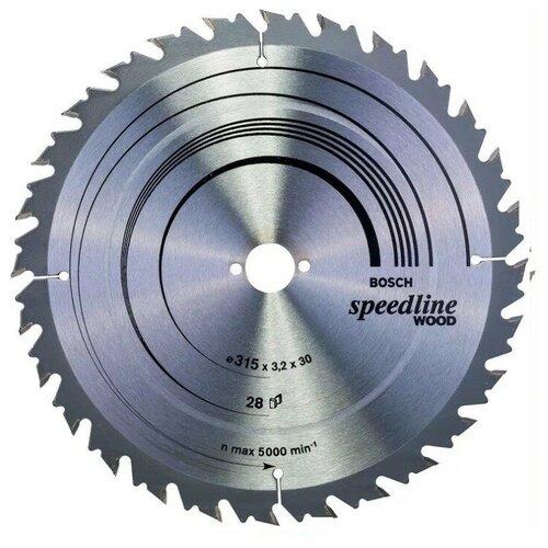 Пильный диск по дереву 350×3.5×30 мм 32Т SPEEDLINE Bosch 2608640683