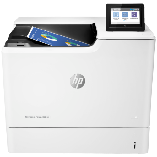 Принтер HP Color LaserJet Managed E65160dn, белый
