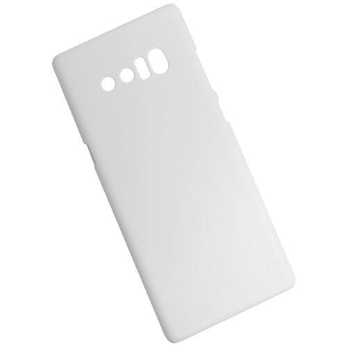 Чехол для Samsung Galaxy NOTE 8 пластиковый прорезиненный белый