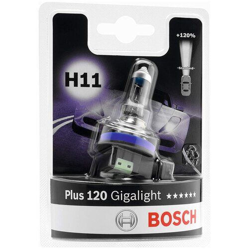 Лампа автомобильная BOSCH H11 +120% Gigalight, 1987301133