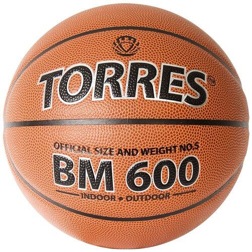Баскетбольный мяч TORRES BM600 B32025, р. 5 коричневый мяч баскетбольный torres slam b02065 р 5