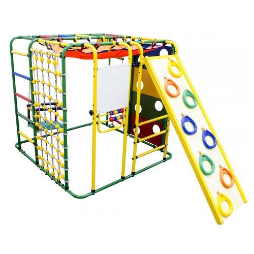 Купить Спортивно-игровой комплекс Формула здоровья Кубик-У Плюс, зеленый/радуга, Игровые и спортивные комплексы и горки
