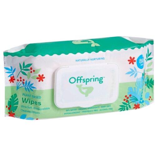 Детские влажные салфетки Offspring, пластиковая крышка, 80 шт.