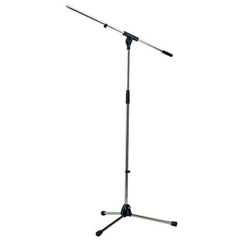 Фото - K&M 21060-300-87 Soft Touch Микрофонная стойка `журавль`, металлические узлы, высота 925-1630 мм, длина журавля 805 мм, цвет серый ultimate support js mcfb50 низкая стойка микрофонная журавль н
