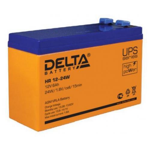 Фото - Аккумуляторная батарея DELTA Battery HR 12-24W 6 А·ч аккумуляторная батарея delta battery gel 12 33 33 а·ч