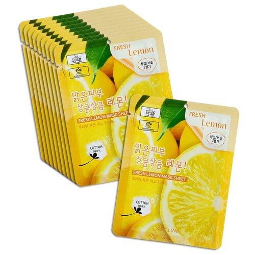 Купить 3W Clinic Тканевая маска с экстрактом лимона Fresh Lemon Mask Sheet, 23 мл, 10 шт.