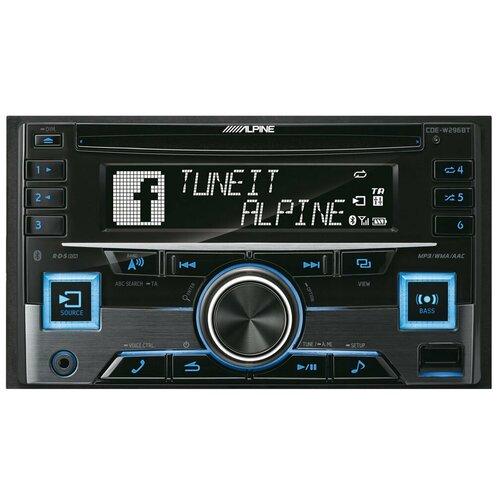 Автомагнитола Alpine CDE-W296BT, черный