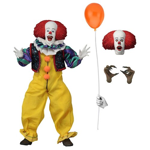18cm deluxe edition clown action figure neca shf it pennywise figures it model collection return soul 1990 halloween gift 10y05 Фигурка NECA Action Figure: IT – Pennywise 1990 Movie Clothed (20 см)
