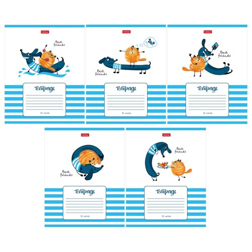 Hatber Упаковка тетрадей Best Friends 12Т5В1, 10 шт./5 дизайнов, клетка, 12 л. набор тетрадей hatber классика 12т5в1
