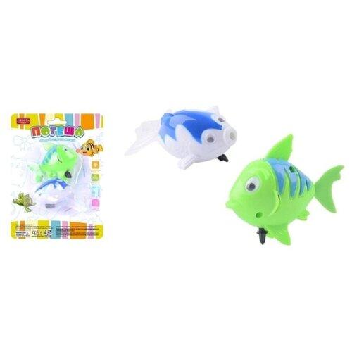 Купить Игрушка заводная для ванной Junfa Рыбки Потеша 2шт (белая и зеленая), Junfa toys, Игрушки для ванной