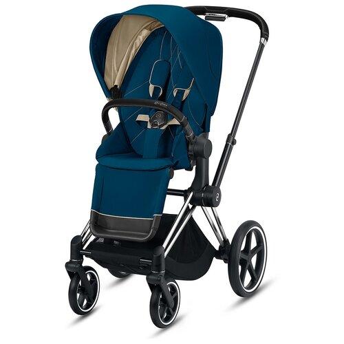 Купить Прогулочная коляска Cybex Priam III, mountain blue/chrome black, цвет шасси: серебристый, Коляски