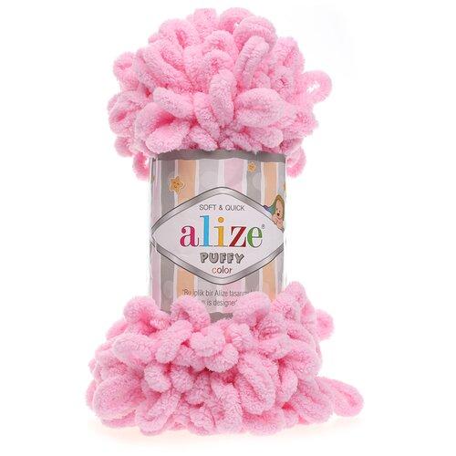 Купить Пряжа для вязания Alize 'Puffy' 100г 9м (100% микрополиэстер) (185 розовый), 5 мотков