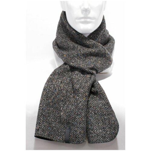 Шарф Antar 27114ТТ из шерстяного ткани, серый/черный