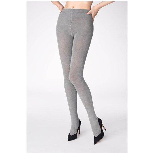 Marilyn Эластичные теплые колготки Cotton 120 черный 3-4 размер
