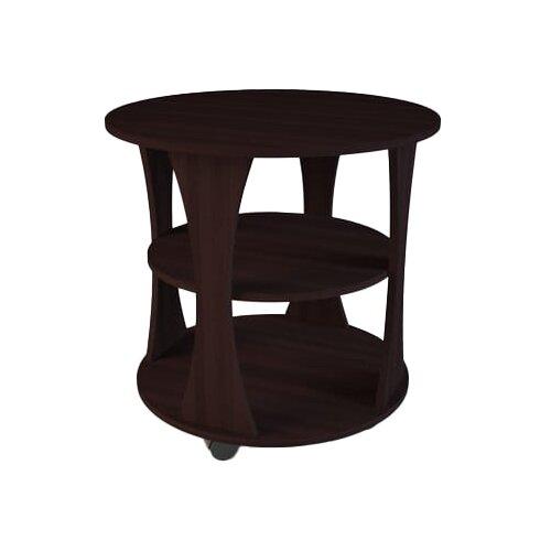 Столик журнальный Комфортная мебель СЖ-2, d: 66 см, венге