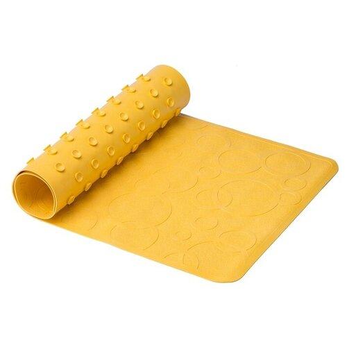 Коврик противоскользящий резиновый детский для ванной ROXY-KIDS 35x76 см, цвет желтый roxy kids коврик roxy kids для ванны антискользящий резиновый 35 76 см желтый