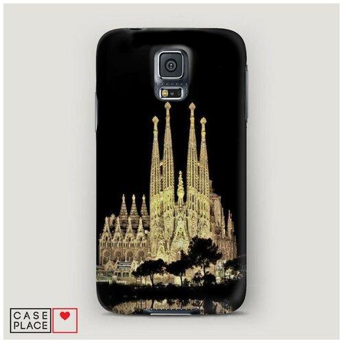 Чехол Пластиковый Samsung Galaxy S5 Храм святого семейства в Барселоне 2