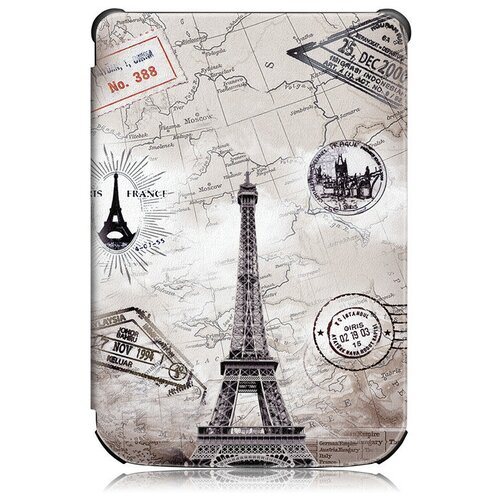 Чехол-обложка MyPads для PocketBook 627 / PocketBook 616 / PocketBook 632 с функцией включения-выключения и возможностью быстрого снятия тематика Париж