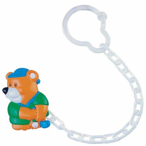 Купить Клипса-держатель для пустышек Canpol babies Animals, рисунок: Мишка (250930401), Пустышки и аксессуары