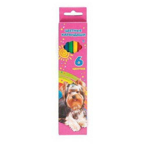 Карандаши цветные Hatber VK Мои лучшие друзья, 6 цветов BKc-06720