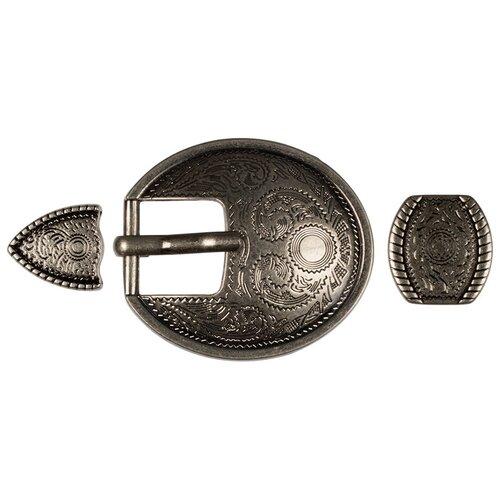 Пряжка для женского ремня Micron, 40x40 мм, цвет: №47 шлифованное серебро, арт. GB 1618
