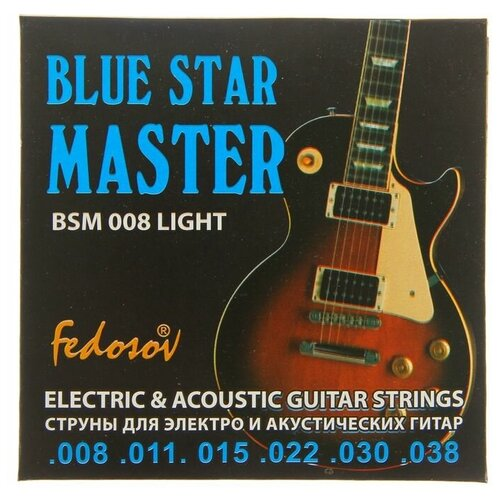Струны BLUE STAR MASTER (008 - 038. навивка - нерж. сплав на круглом керне) 1453092