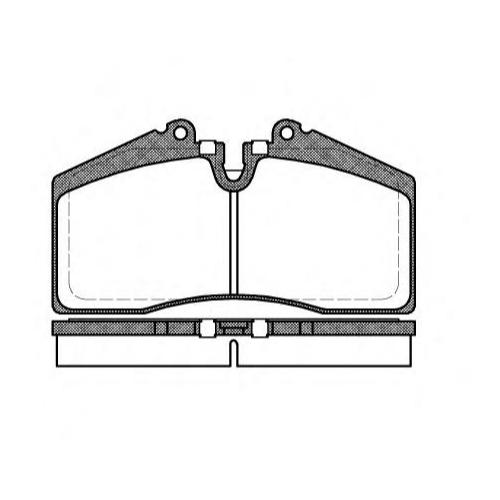 Дисковые тормозные колодки передние Road House 2288.00 для Audi, Porsche (4 шт.)