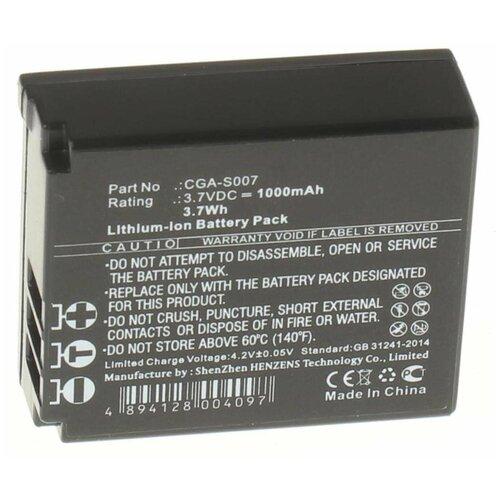 Фото - Аккумулятор iBatt iB-U1-F218 1000mAh для Panasonic Lumix DMC-TZ1, Lumix DMC-TZ1-A, Lumix DMC-TZ3, Lumix DMC-TZ5, Lumix DMC-TZ2, Lumix DMC-TZ15, Lumix DMC-TZ50, Lumix DMC-TZ11, Lumix DMC-TZ11GK, Lumix DMC-TZ15GK, фотоаппарат panasonic dmc fz300 lumix