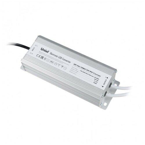 Фото - Трансформатор Uniel UET-VAJ-100B67 24V IP67 2 выхода UET блок питания для светодиодов uniel uet vaj 060a67