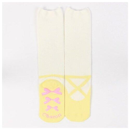 Носки с дизайном в виде пуантов - размер 20-24,5 см, цвет 27 (жёлтый)