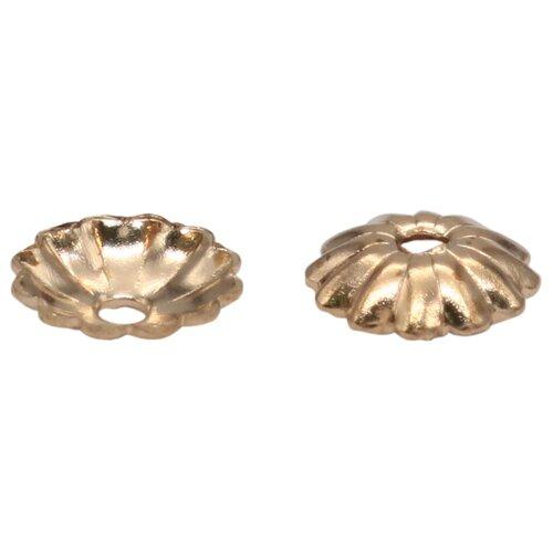 Купить 4AR202 Шапочка для бусин, 3мм 100шт/упак, Астра (Золото), Astra & Craft, Фурнитура для украшений