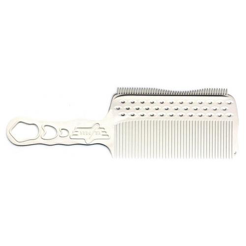 Фото - Расчёска Y.S.Park с ручкой, зубцами на обушке и направляющей рельсой белая для левшей YS-s282LTwhite расчёска карбоновая с ручкой