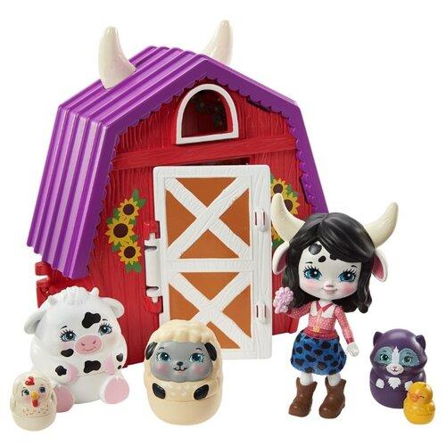 Купить Игровой набор Mattel Enchantimals Секретные лучшие друзья Ферма Кембри Му GTM48, Игровые наборы и фигурки