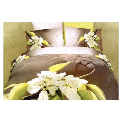 Постельное белье 1.5-спальное Tango Novella TS01-27A, сатин, 70 х 70 см коричневый