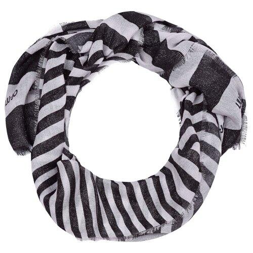 Шарф LIU JO размер 128 черный/серый