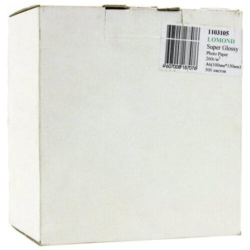 Бумага Lomond A6 Premium Photo Paper 1103105 260 г/м² 500 лист., ярко-белый