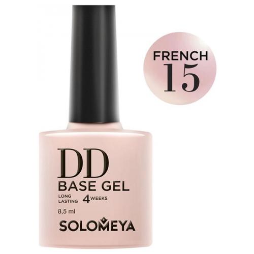 Solomeya базовое покрытие DD Base Gel суперэластичное 8.5 мл French 15  - Купить