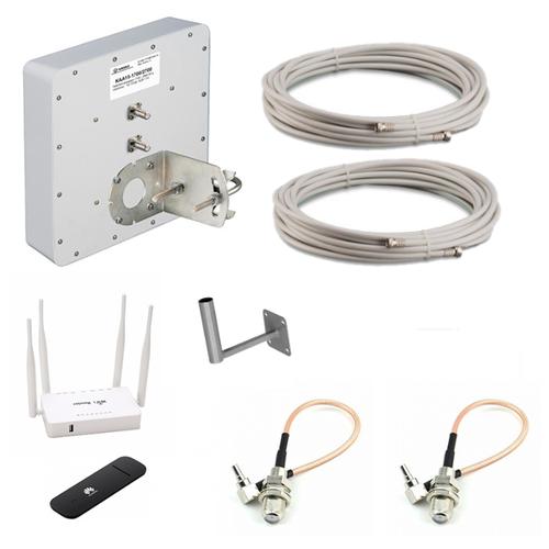 Комплект усиления сигнала интернет 3G / 4G LTE для дачи с антенной Kroks 15dBi