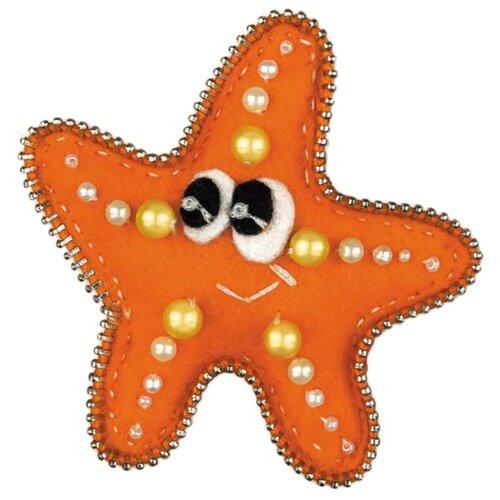 Купить 1410АС Набор для рукоделия Riolis брошь 'Морская звездочка', 7*7 см, Риолис, Наборы для вышивания