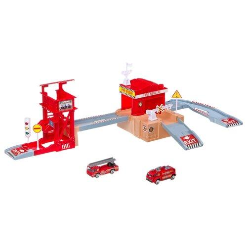 Купить Yako Пожарная станция M7989-7 красный/серый, Детские парковки и гаражи