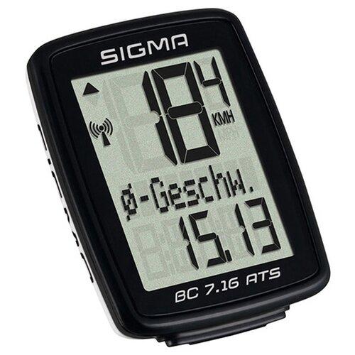 Велокомпьютер SIGMA BC 7.16 ATS, черный
