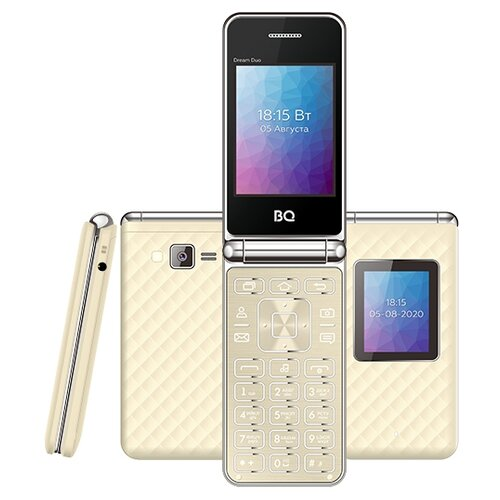Фото - Телефон BQ 2446 Dream Duo, золотой мобильный телефон bq mobile bq 2446 dream duo gold