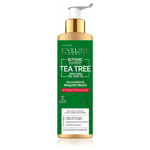 Купить Жидкое мыло Eveline Botanic Expert увлажняющее антибактериальное с чистым маслом чайного дерева 3в1 250мл, Eveline Cosmetics