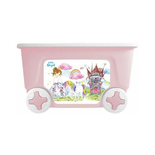 Фото - 1034LA Контейнер для игрушек Little Angel Сказочная принцесса (колеса, 50 л, розовый) контейнер little angel малышарики 5 1 л la1152 нк белый