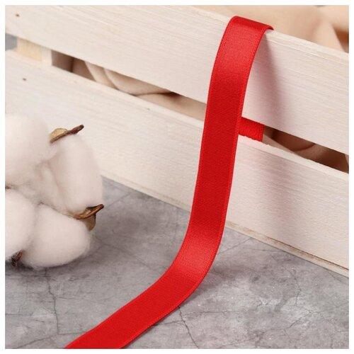 Купить Резинка для бретелей Арт Узор блестящая, 15 мм, 10 +- 0, 5 м, цвет красный, Технические ленты и тесьма