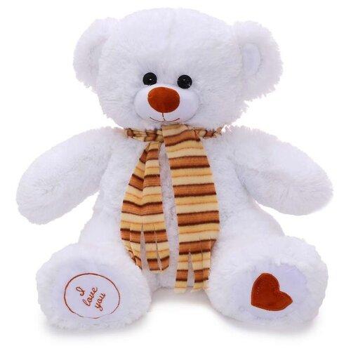 Купить Мягкая игрушка Любимая игрушка Медведь Фреди белый, 50 см, ЛюбиМая игрушка, Мягкие игрушки