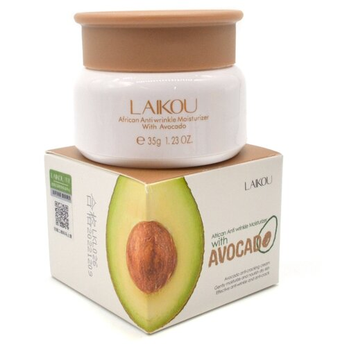 LAIKOU African Anti Wrinkle Moisturizer With Avocado Увлажняющий омолаживающий крем для лица с авокадо, 35 г